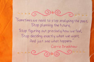 SATC Quote by VickitoriaEmbroidery