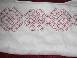 Redwork Collar by VickitoriaEmbroidery