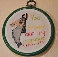 You Threw Off My Groove by VickitoriaEmbroidery