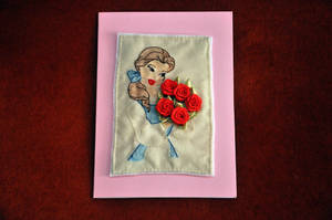 Belle Card by VickitoriaEmbroidery