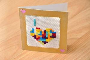 Tetris Heart by VickitoriaEmbroidery