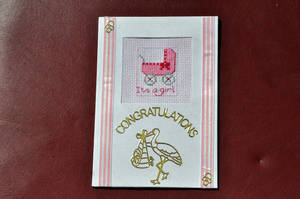 It's a Girl by VickitoriaEmbroidery