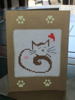 Cat Card by VickitoriaEmbroidery
