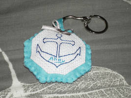 Anchor Keyring by VickitoriaEmbroidery