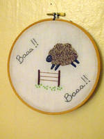 Baa, Baa, French Knot Sheep by VickitoriaEmbroidery