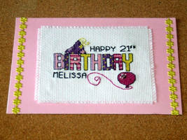 21st Birthday Card by VickitoriaEmbroidery