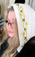 Embroidered Jorvik Hood by VickitoriaEmbroidery