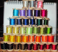 Silk Spools! by VickitoriaEmbroidery