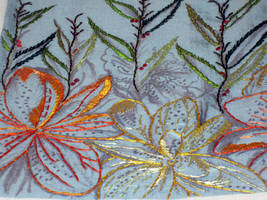 Embroidered Artwork 5 by VickitoriaEmbroidery