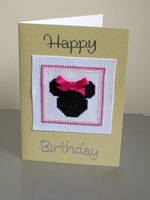 Minnie Mouse Card by VickitoriaEmbroidery