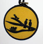 Bird Silhouette Hoop by VickitoriaEmbroidery