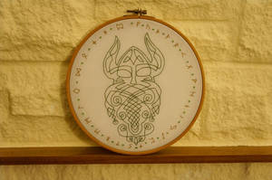Viking Inspired Hoop by VickitoriaEmbroidery