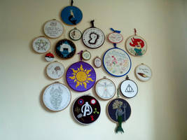 Hoopla Wall! by VickitoriaEmbroidery