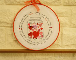 Jar of Hearts by VickitoriaEmbroidery