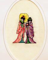 Geishas by VickitoriaEmbroidery