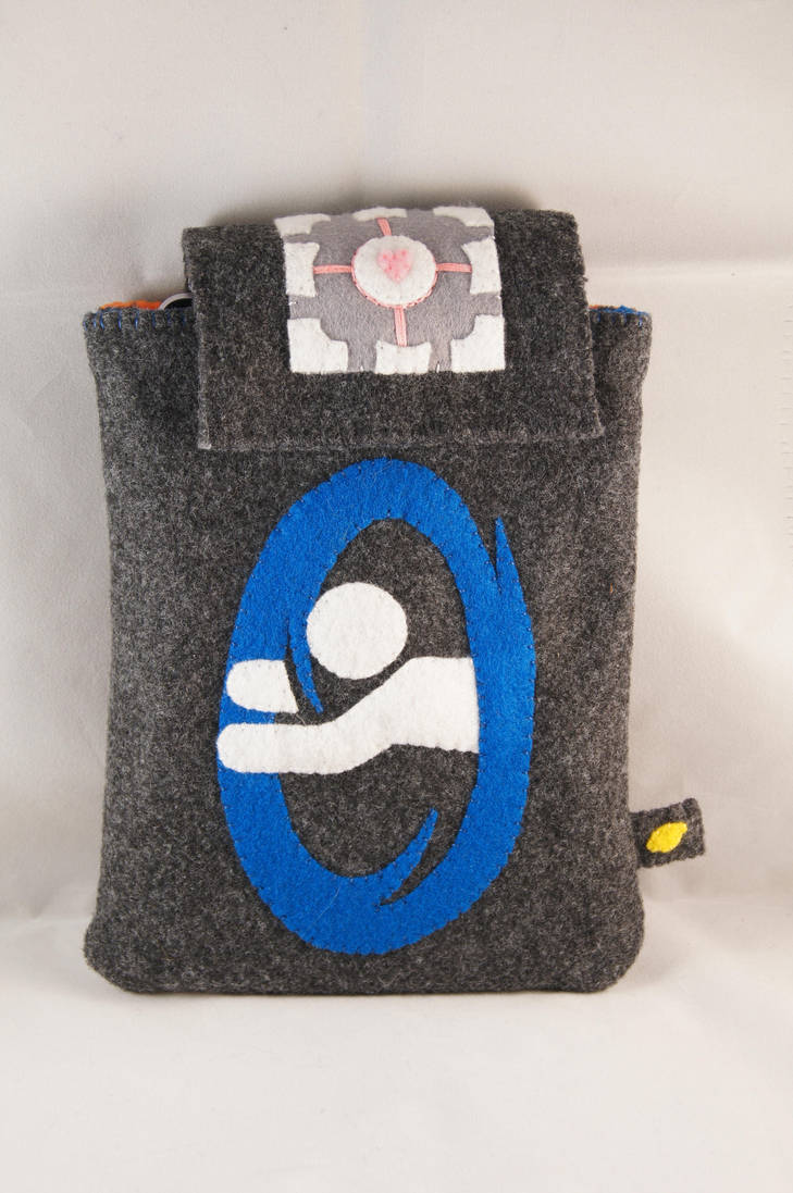 Portal Tablet Case 1 by VickitoriaEmbroidery