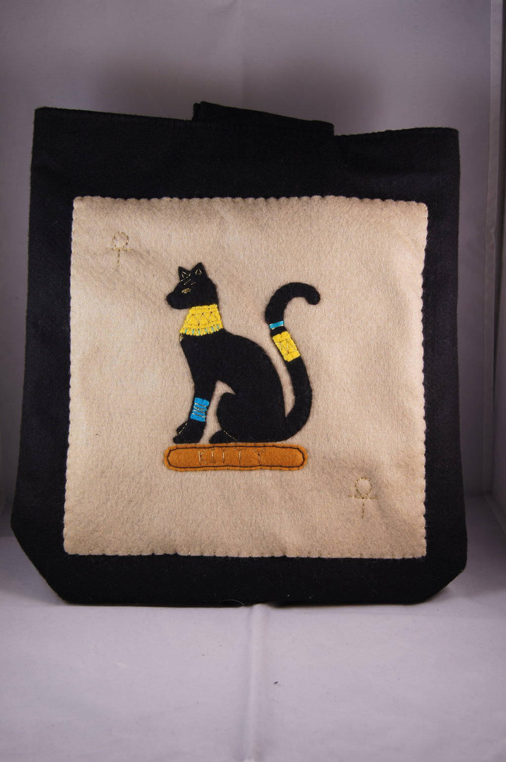 Egyptian Cat Cover by VickitoriaEmbroidery
