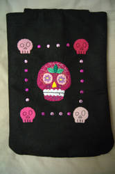 Sugar Skull Case by VickitoriaEmbroidery