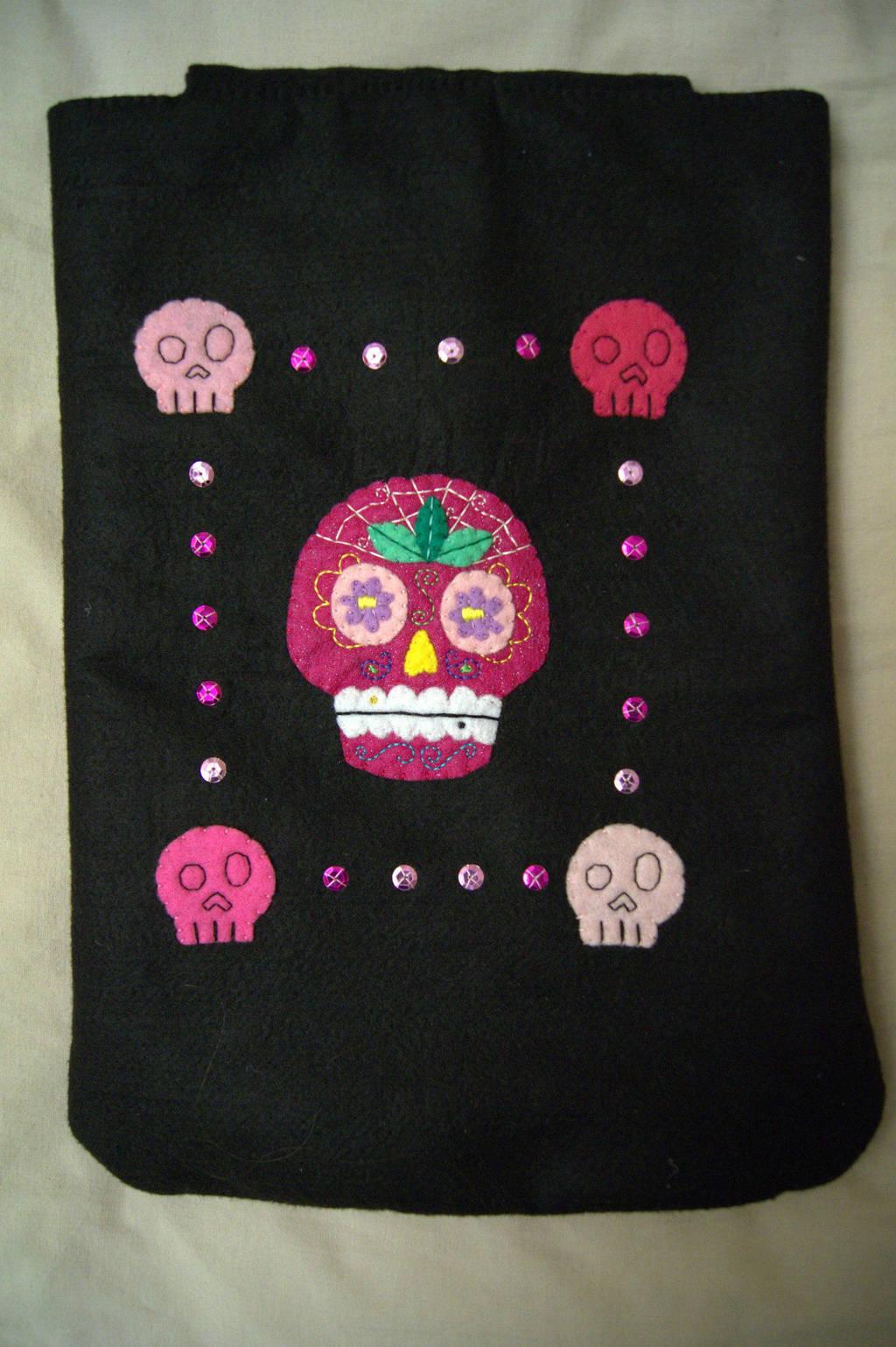 Sugar Skull Case by VickitoriaEmbroidery