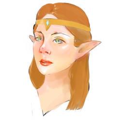 Princess Zelda Test by anime-girl1709