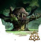 Tree hut - Witanlore by dleoblack