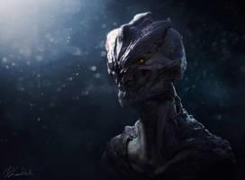 Alien head by dleoblack
