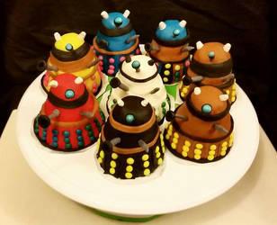 Mini Dalek Cakes by PerfectlyAbnormal