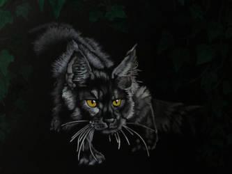stalking cat by Stencilkingdom