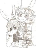 easter with black butler/kuroshitsuji by Cielcplay