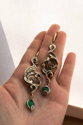 earrings silver ton. by DARiyaKUTEPOVA