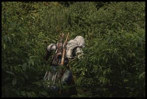 Sneaking through the bushes by Trujin