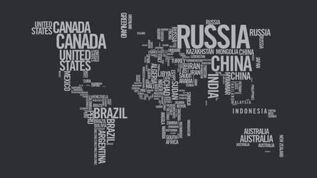 World Map Typography by crzisme