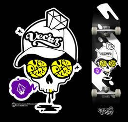 VecKR - skate deck by oxidizzy