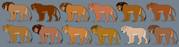 Adult Lion Adopts by AshTLK