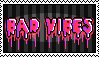 bad vibes stamp by SHOUTMILO