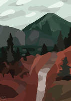 it's only mountains - VECTOR by Madzialke
