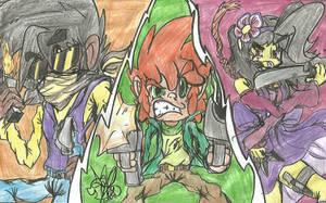 Pico, Darnell and Nene by RetroGalicia