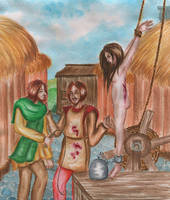 Medieval Frights: Strappado method by CosySister