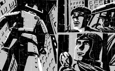 Cowboy Robo Test Page B by vonfolger