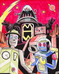 Retro Robots! by vonfolger