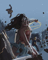 Diana of Themyscira by thewipeout