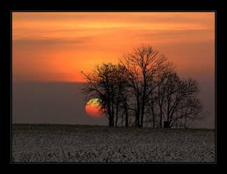 Sunset in Winter No.2 by Hartmut-Lerch