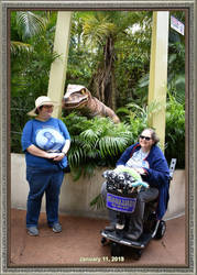 Universal vacation pic 1 aka it's eyeing my hat! by The-Angelic-one