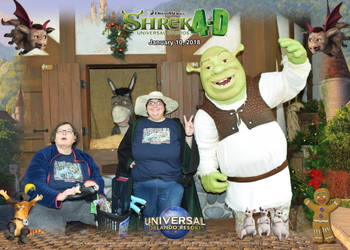 Meeting Shrek and Donkey by The-Angelic-one