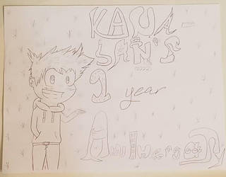 Kana-San's 1 Yr Anniversary (My Hand Writing Sux) by Kana-San2222