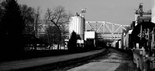 Grain, Train, and a bridge by Deathtoll