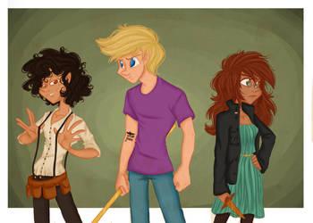 The Lost Hero's Trio by GildingofNightfall