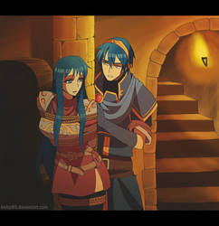 COMM: GameFan25 - Marth and Caeda by knilzy95