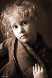 Portrait of Girl II by RomART
