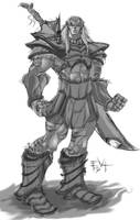 evl orc sketch by ErikVonLehmann